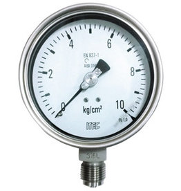 Pressure Gauge P104 all SS, DIN style case