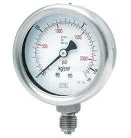 Pressure Gauge P103 all SS, >=100 mm diameter