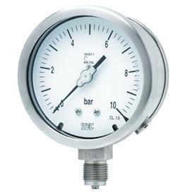 Pressure Gauge P202 solid front with zero adjustment