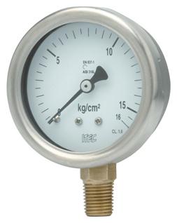 Pressure Gauge P902 SS case brass