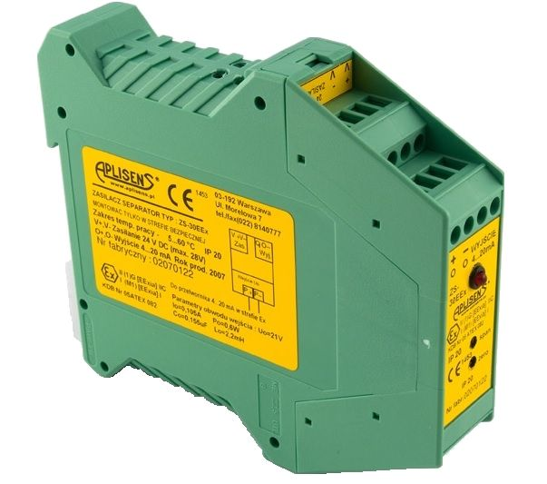 Intrinsically safe power supply and separator ZS-30Ex1
