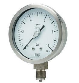 Pressure Gauge P101 all SS, >100 mm diameter