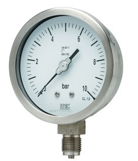 Pressure Gauge P101 all SS, >100 mm diameter