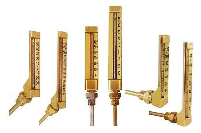 V-Line Industrial Glass Thermometer