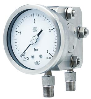 Pressure Gauge P302 differential, single diaphragm type
