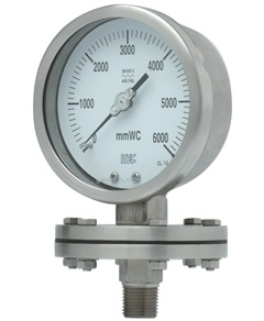 Pressure Gauge P602 all SS, diaphragm type