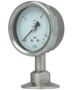 Pressure Gauge P701 sanitary, diaphragm seal