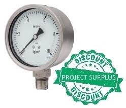 All SS Pressure Gauge Bourdon type (DIN case)