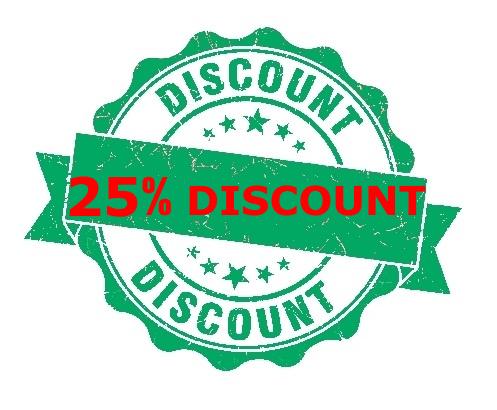 25% Extra Discount!!!