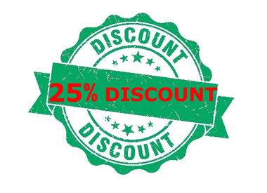 Discount Temperatuur 25%