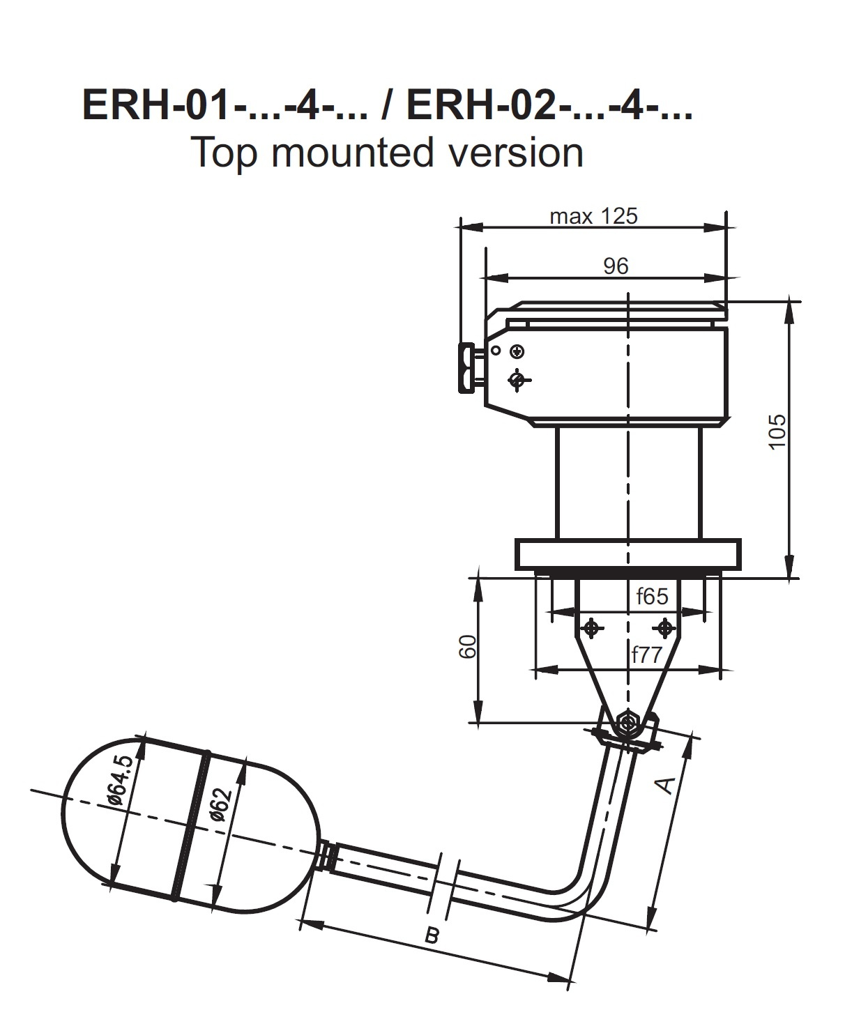Level Switch Type ERH- Top Mounted
