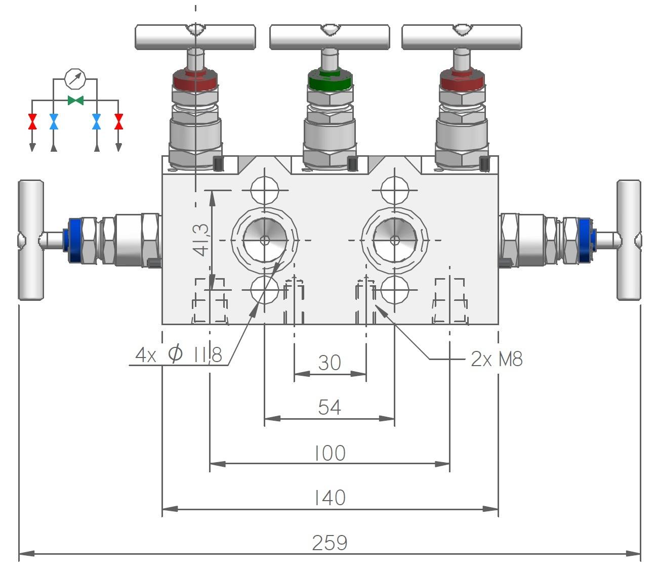M53, 5-way Manifold