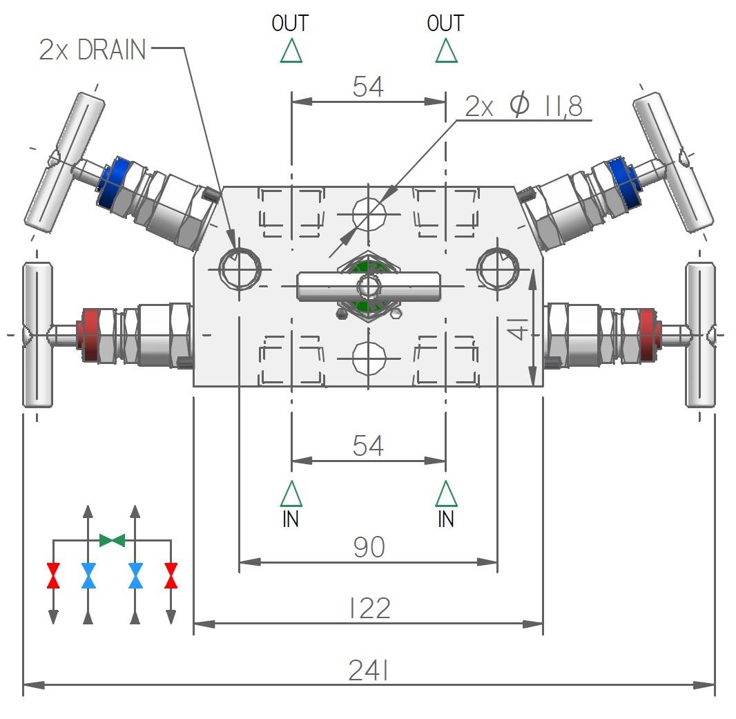 M54, 5-way Manifold