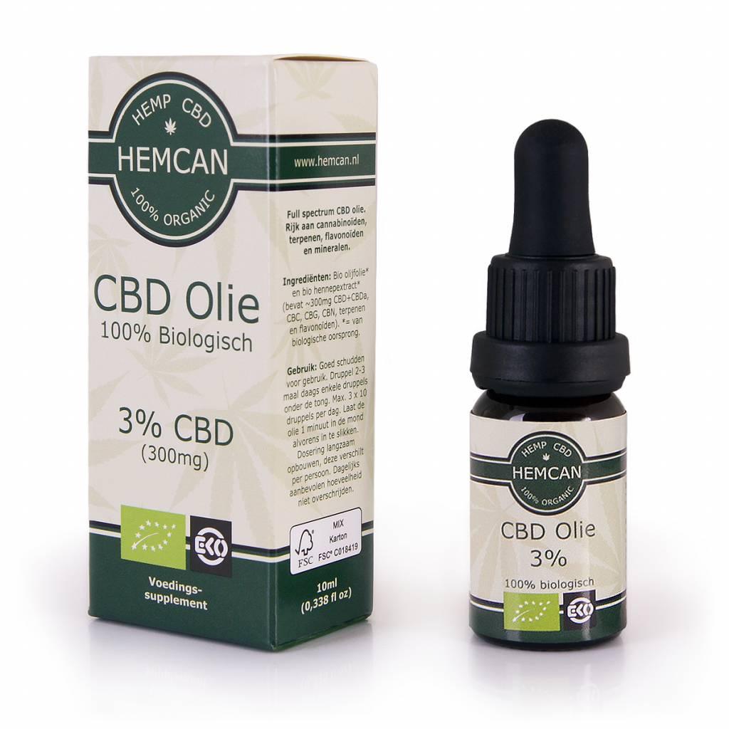 Biologische CBD Olie 3% - 300mg CBD (Cannabidiol) -