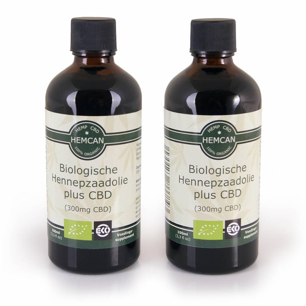 Biologische Hennepzaadolie + 300mg CBD (Cannabidiol)