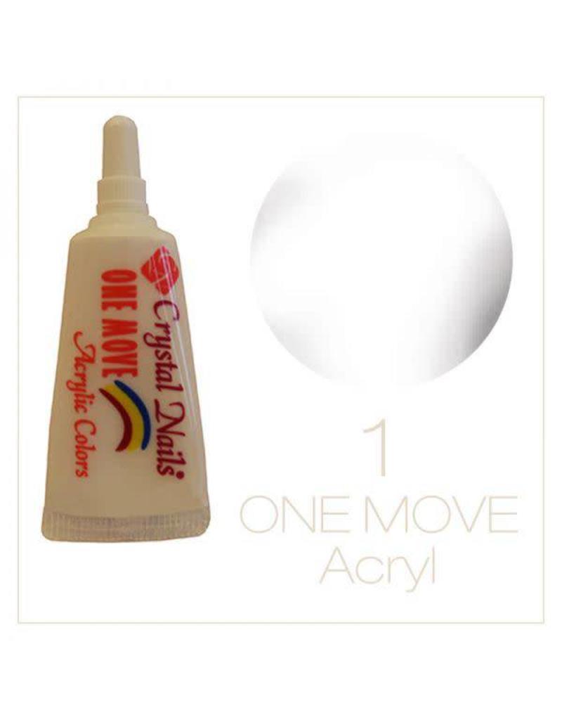 Crystal Nails CN Nail art Paint one move tube 8 ml.