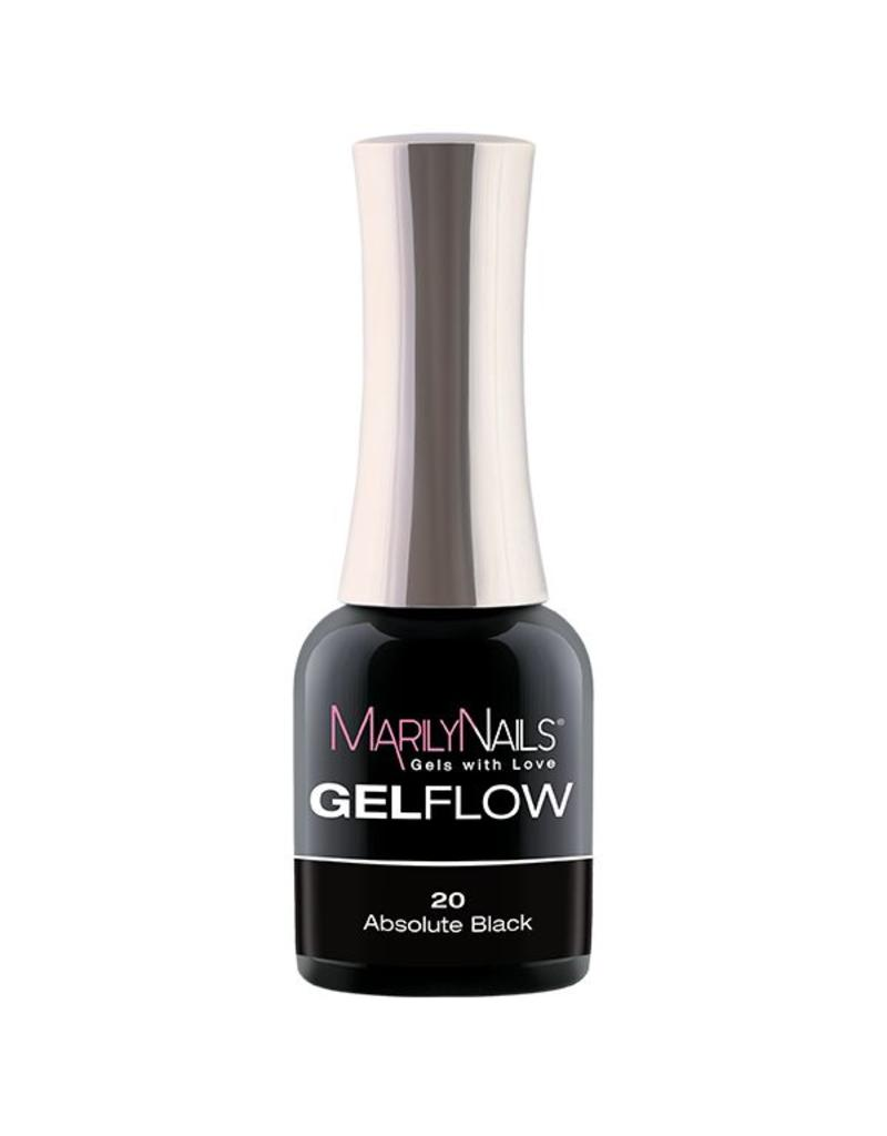 MarilyNails MN GelFlow - Absolute Black #20
