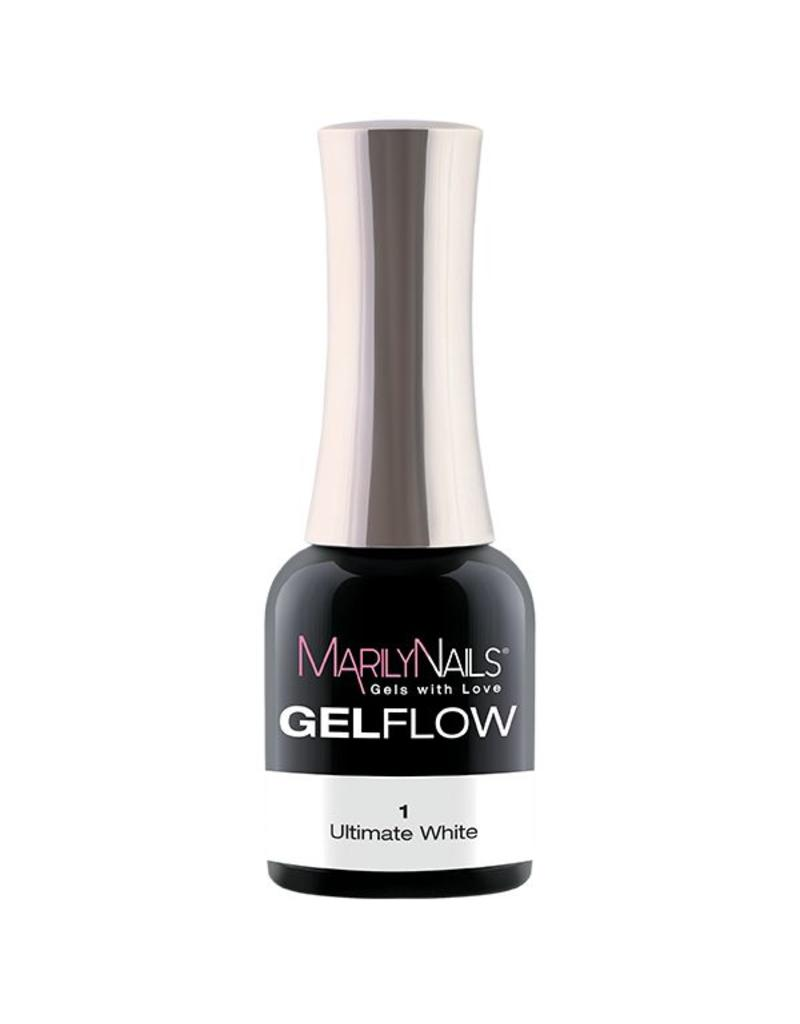 MarilyNails MN GelFlow - Ultimate White #1 Marilynails
