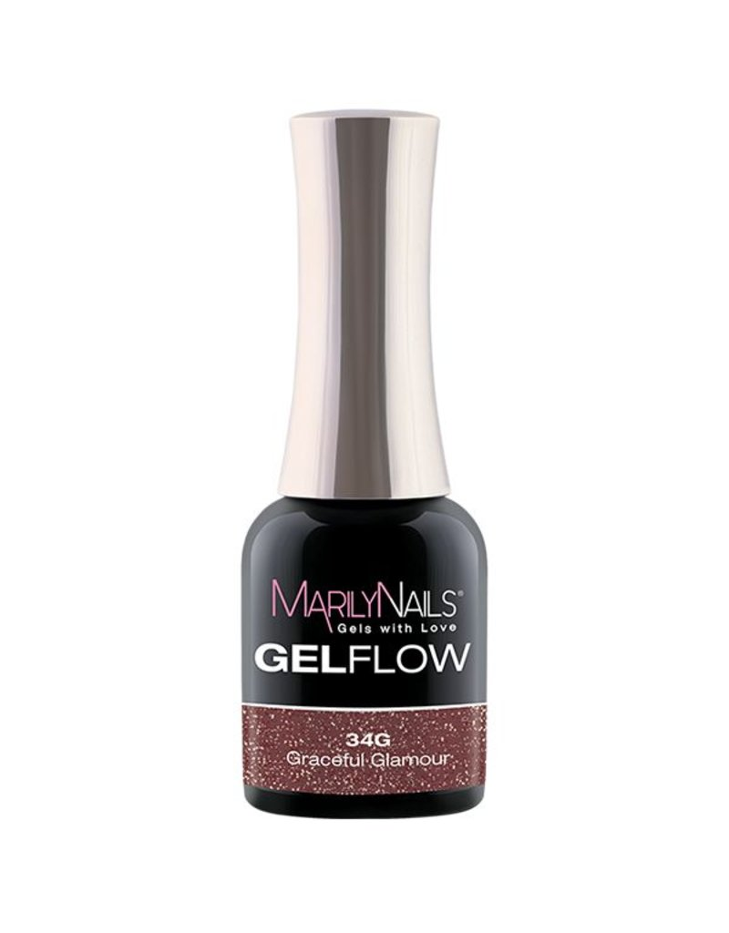 MarilyNails MN GelFlow - Graceful Glamour #34G 7 ml.
