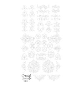 Crystal Nails CN Water decals Rococo Ezüst (silver)