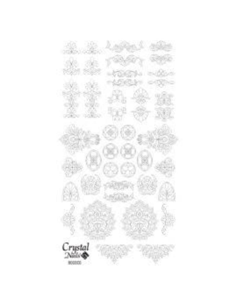 Crystal Nails CN Water decals Rococo Fekete (black)