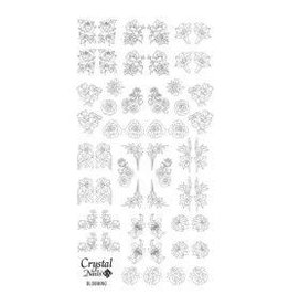 Crystal Nails CN Water decals Blooming (silver)