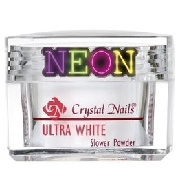 Crystal Nails CN Slower Powder 28 gr. Ultra White NEON