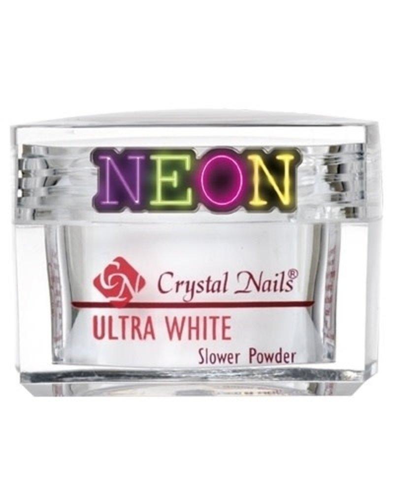 Crystal Nails CN Slower Powder 28 gr. Ultra White NEON