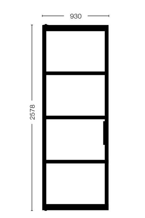 Enkele stalen deur Model 2578