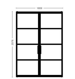 Dubbele stalen deuren Model 2578