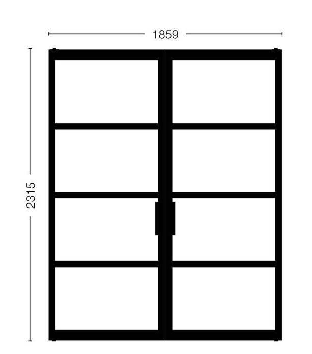 Dubbele stalen deuren Model 2315