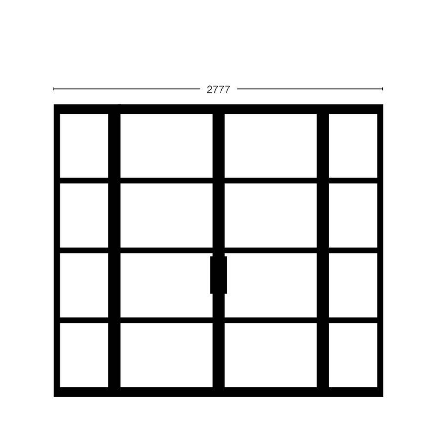 Dubbele deur met smalle zijpanelen Model 2315