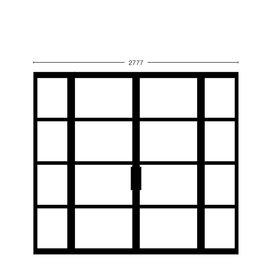 Dubbele deur met smalle zijpanelen Model 2578