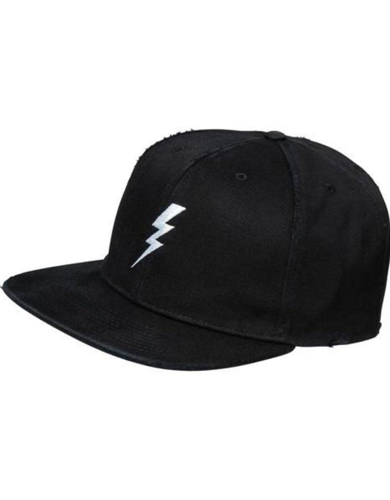 Cap HipHop Lightning - white flash