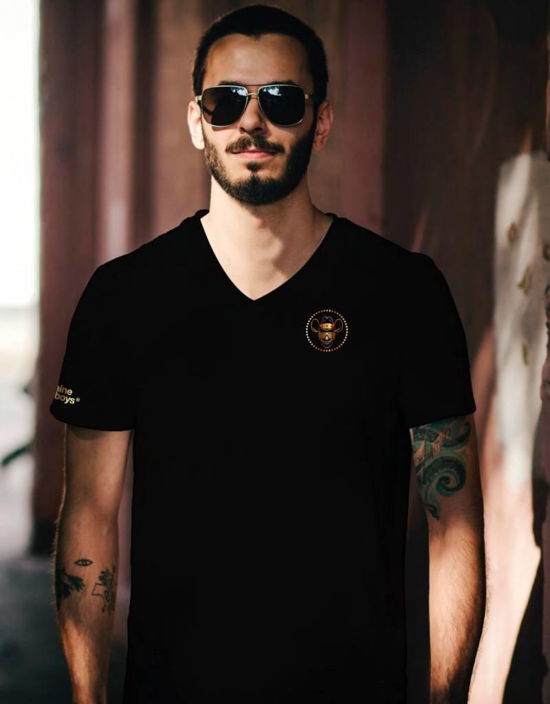 Herren T-Shirt Box Skull - schwarz
