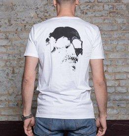 Herren T-Shirt Skull –white