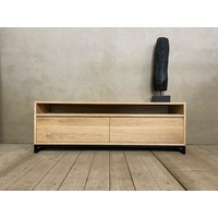 Industrieel eiken tv-meubel