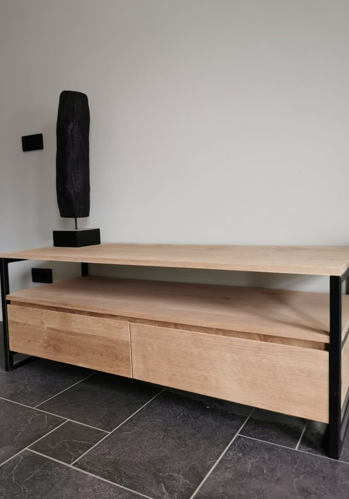 Industrieel eiken tv-meubel Nova