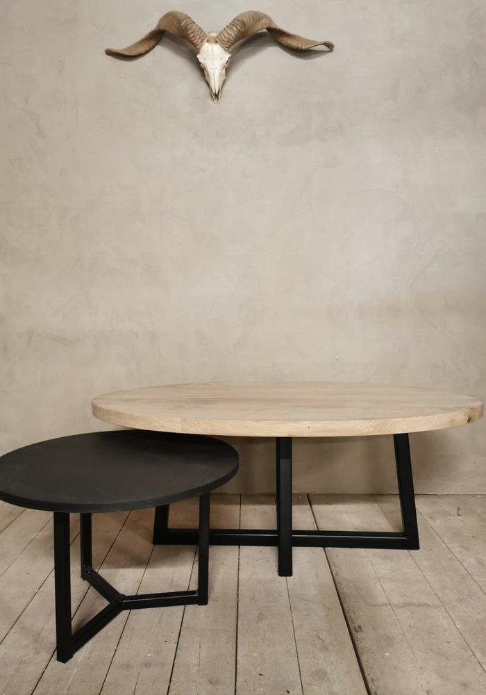 Industrieel eiken salontafel set Kiran