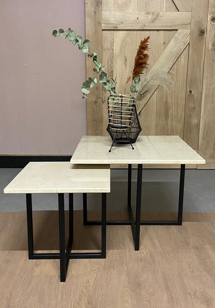 Marmeren salontafel set Ise