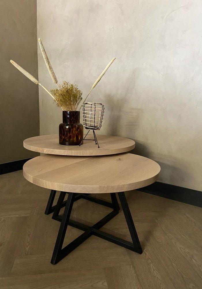 Industrieel salontafel set Lou