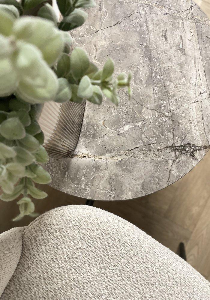 Marmeren salontafel Aiva - grijs
