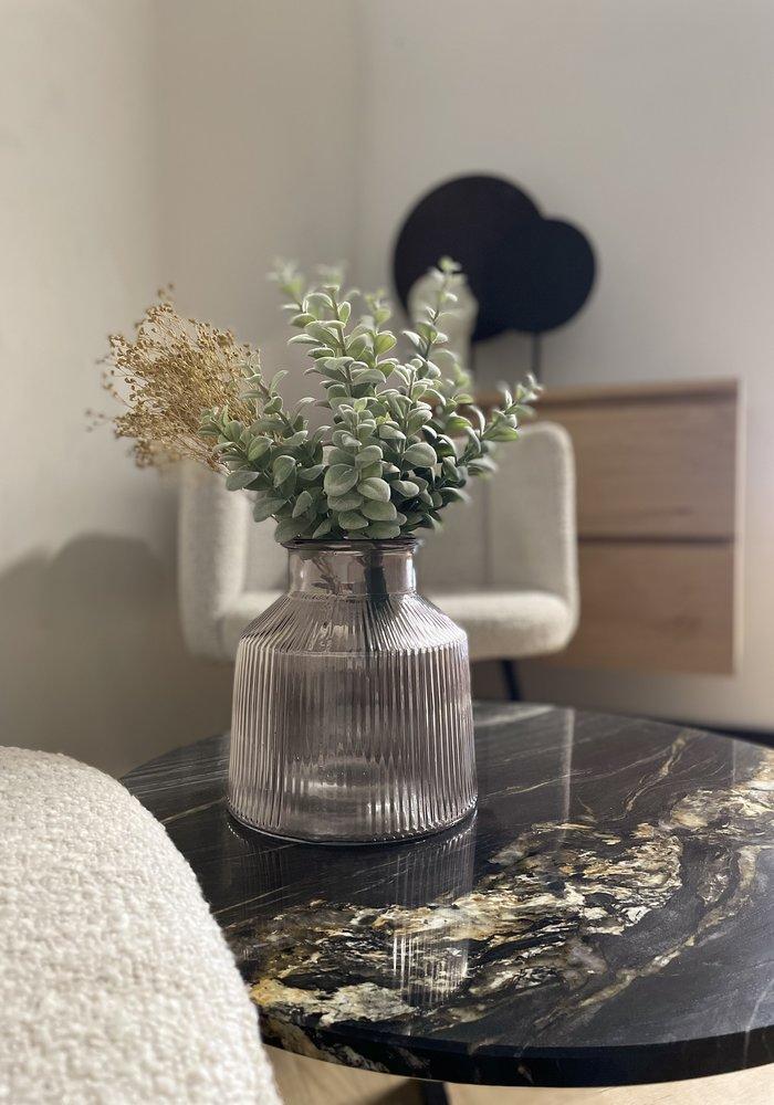Marmeren salontafel Aiva - zwart