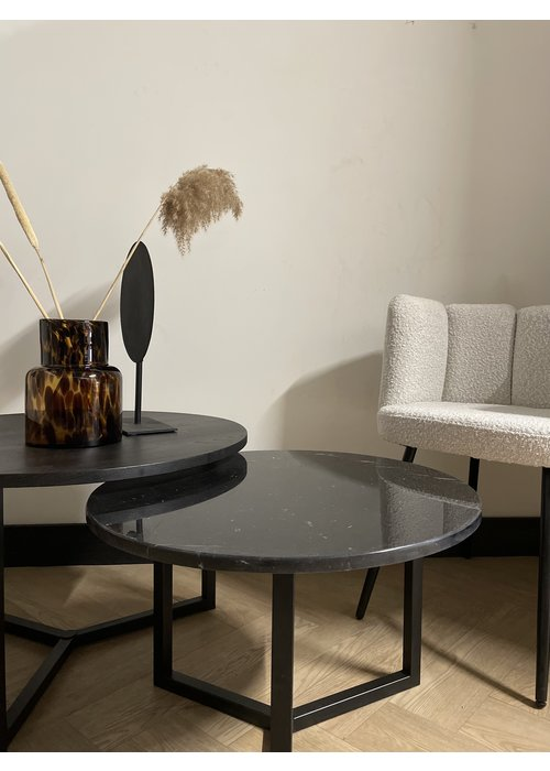 Robuust Interieur Salontafel set Noura - zwart/wit