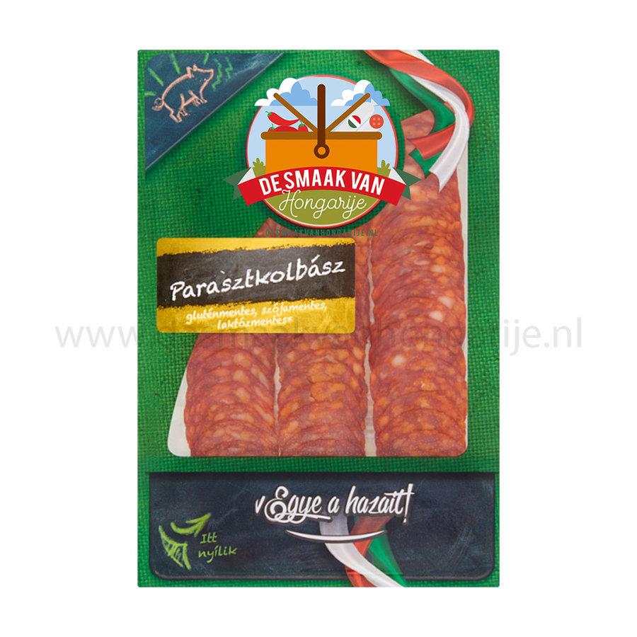 Farmers kolbász slices