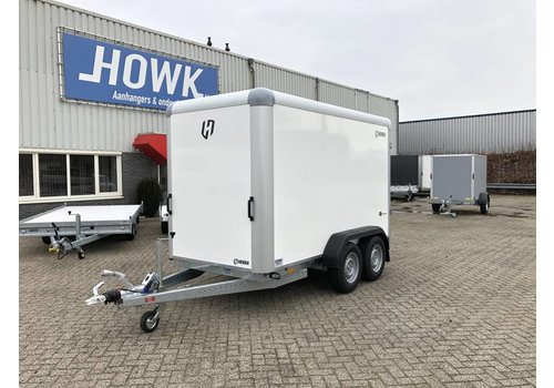 Henra Nieuwe gesloten Henra Bakwagen 318 x 158 x 190 ( 2000kg ) tandemasser