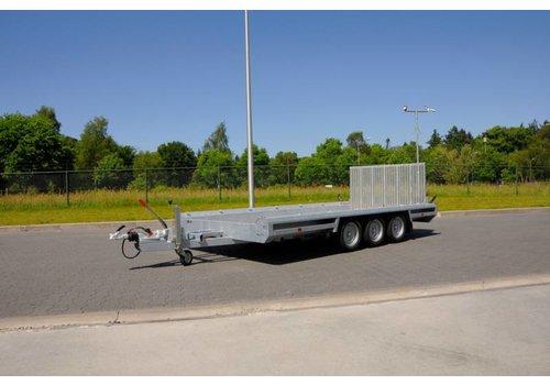 Hulco Aanhangwagens Hulco Terrax-3 machine transporter 394x180cm 3500kg met 100cm oprijklep