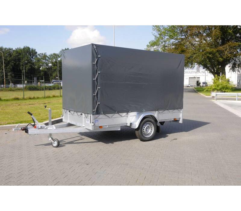 Nieuwe Anssems BSX 1500kg met huif 301x150x210cm Enkelasser