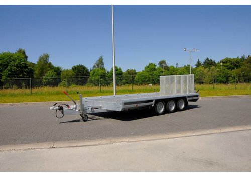 Hulco Aanhangwagens Hulco Terrax-3 machine transporter 394x180cm 3500kg klep 150cm