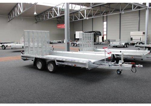Hulco Aanhangwagens Hulco Terrax-2 machine transporter 294x150cm 3000kg met 150cm klep